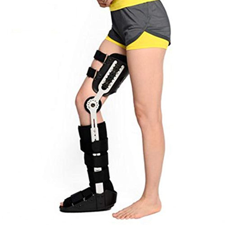 コントロールアイザック多様な調節可能な膝 - 足首 - 足用装具、大腿膝関節ふくらはぎ足首固定ステント、骨折支援リハビリテーション