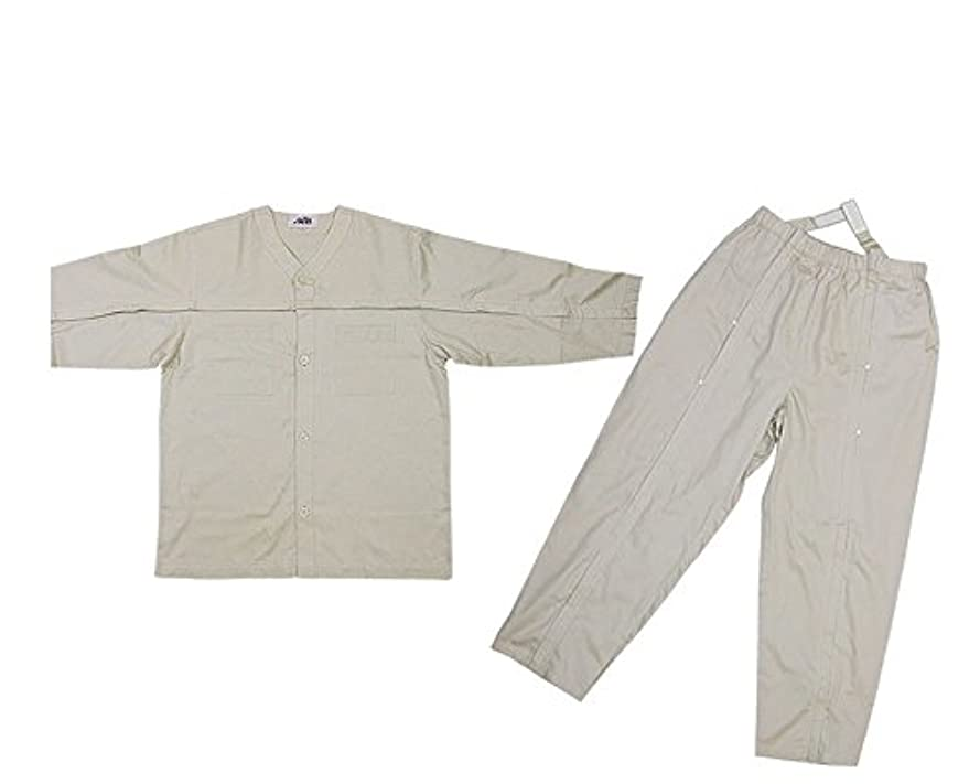 滅びる特権的肌寒い多機能パジャマ 愛情 介護パジャマ (L, 紳士用(ベージュ))