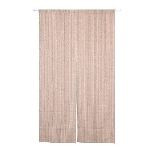 Shinnwa(シンワ) のれん ポリエステル 7色選べる 無地 和風暖簾 幅85cm×丈150cm ロングカーテン 深いベージュ