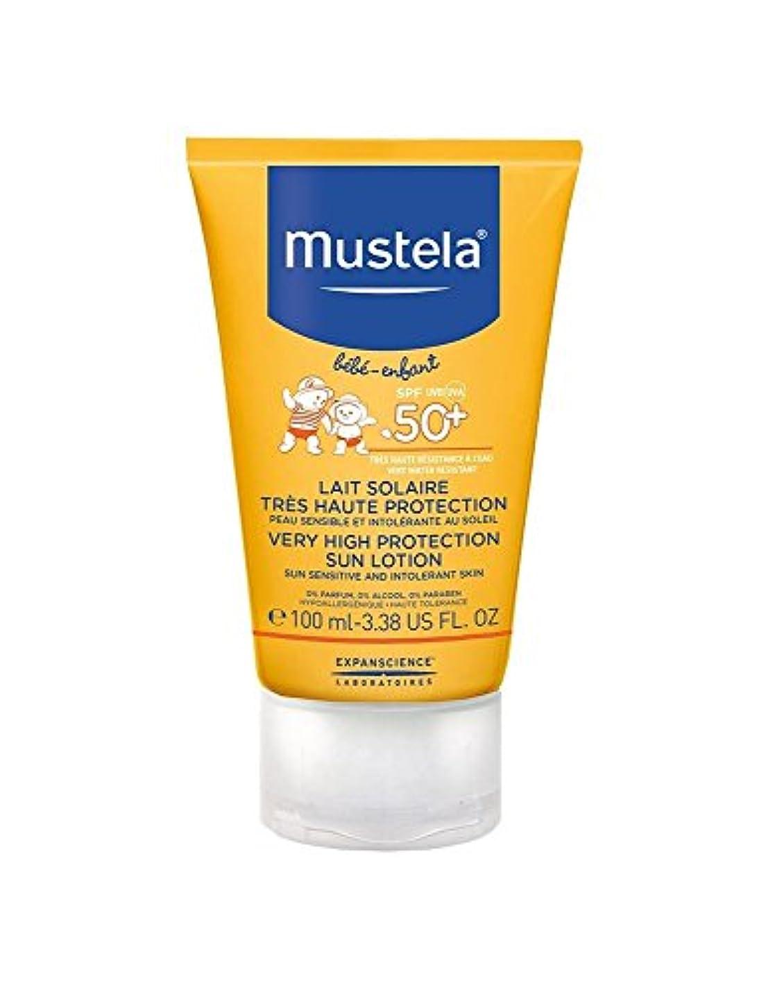 物理菊忌み嫌うMustela Sun Face Milk Spf50 + 40ml [並行輸入品]