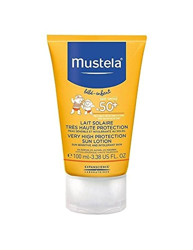 ミスペンド障害トラフMustela Sun Face Milk Spf50 + 40ml [並行輸入品]