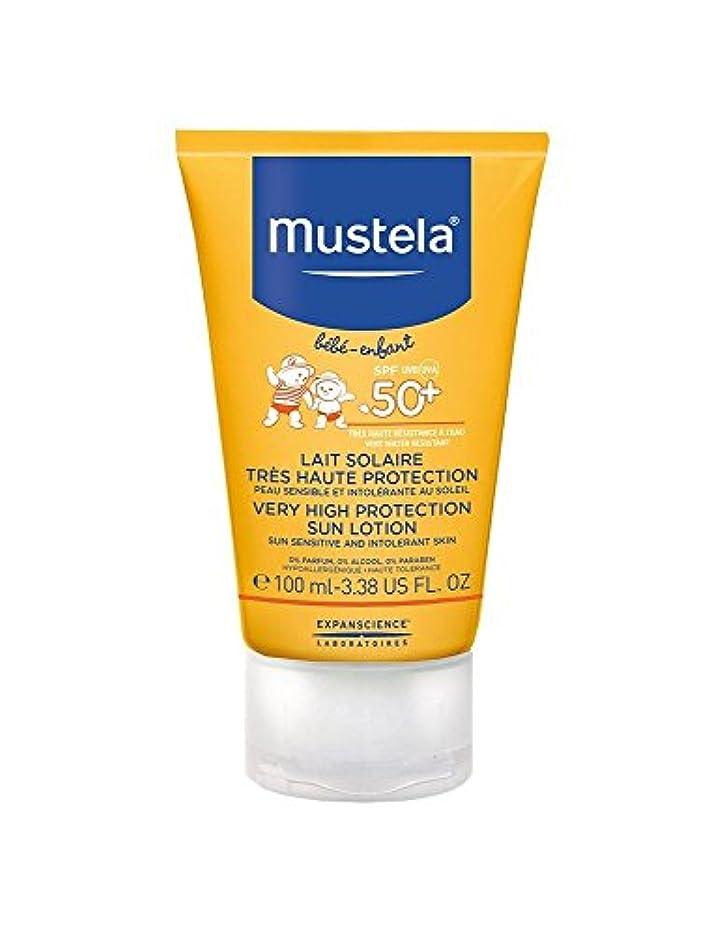 商業の引き金高揚したMustela Sun Face Milk Spf50 + 40ml [並行輸入品]