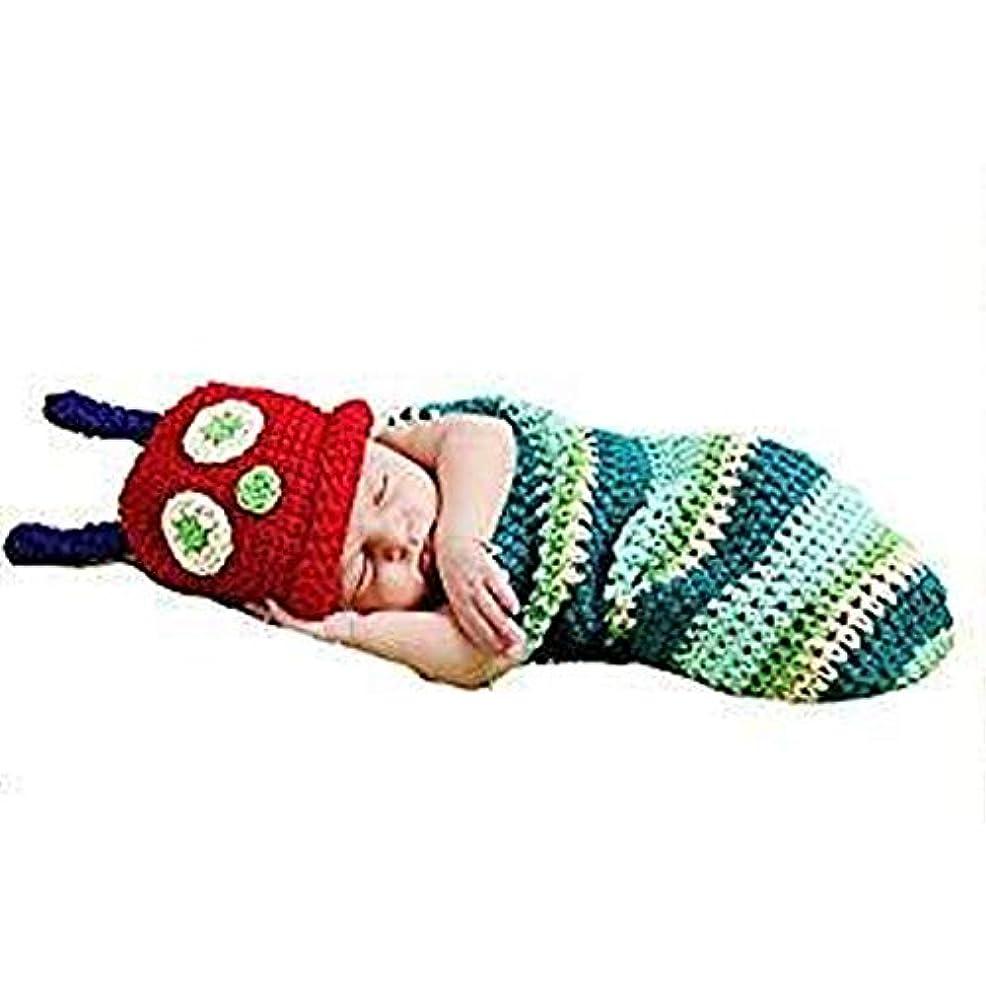 幻滅するうれしいペナルティベビー用着ぐるみ コスチューム 寝相アート 記念写真 写真撮影用 出産祝い あおむし
