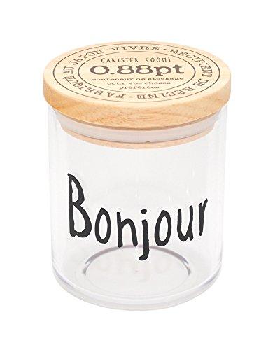 RoomClip商品情報 - クラフトレシピ VIVRE キャニスター M Bonjour 密閉 コーヒー 砂糖 おしゃれ 調味料 保存容器 プラスチック