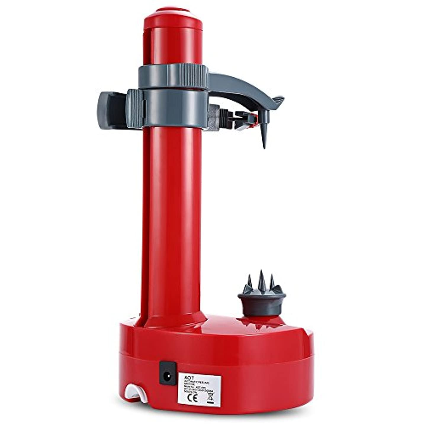 表現要件再編成するACAMPTAR 多機能電動ピーラー フルーツ野菜用 自動ステンレス鋼の皮むき器キッチンポテトカッター機 レッド