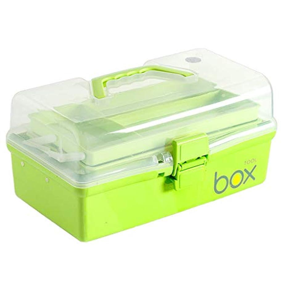 キルス胆嚢乳製品Yxsd 応急処置キット 応急処置キット収納ボックス、家庭用ポータブルピル薬医療収納ボックスオーガナイザー、旅行、キャンプ、オフィス (Color : Green)