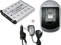 充電器 セット【OLYMPUS オリンパス】LI-40B/ LI-42B 互換 バッテリ- + 充電器(AC電源 タイプ 色:シルバー) [エレクトロニクス]