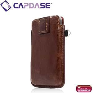 CAPDASE 日本正規品 iPhone 4 / 4S 専用 スマートポケット レザーケース クラコ, ブラウン/ブラック SLIH4-S489