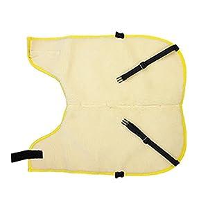 カーフジャケット 【 ボアジャケット 腹当て付セット Mサイズ 裏地ボア 】 仔牛や仔馬の防寒 体調管理 ワンタッチ脱着