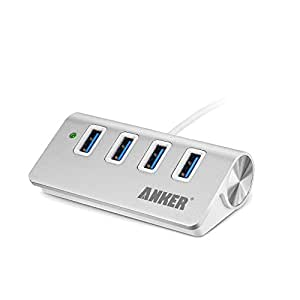 Anker USB 3.0 高速4ポートハブ 一体型ケーブル アルミ製 USB1.1/2.0互換 【18ケ月保証】 (ホワイト)