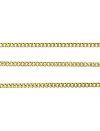 ジナブリング (JINA BRING) ステンレスチェーン サージカルステンレスSUS304 喜平 ネックレス チェーン ゴールド2mm 80cm