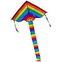 カラフルなレインボーTriangleカイトアウトドア楽しいスポーツビーチ子供Flyおもちゃギフト
