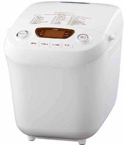 CCP 【BONABONA】 ホームベーカリー 「ごはんパン・天然酵母パンメニュー付き」 0.5斤/1斤 ホワイト BK-B67-WH