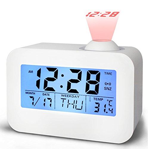 ZOCIYA 目覚まし時計 投影 デジタル時計 多機能 置き...