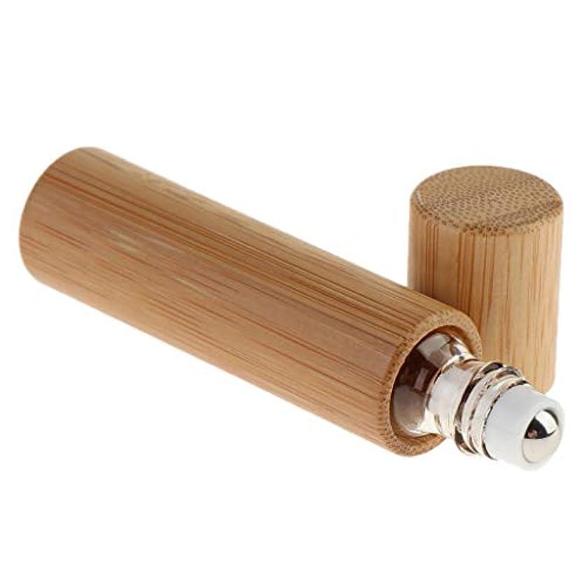 フェザー慣れるフェリーgazechimp ロールオンボトル 香水瓶 空容器 詰め替えボトル 竹製 10ml 精油 液体 保存 携带用
