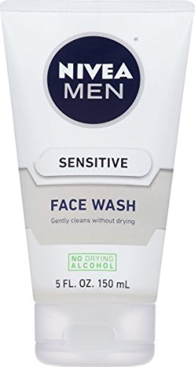 気づかない原油バイアスNIVEA Men Sensitive Face Wash 5 Fluid Ounce [並行輸入品]
