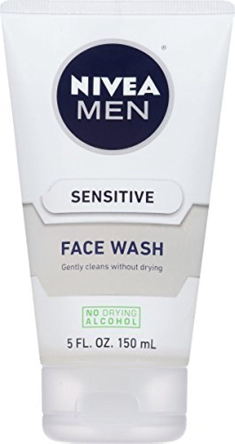 もっと維持する船NIVEA Men Sensitive Face Wash 5 Fluid Ounce [並行輸入品]