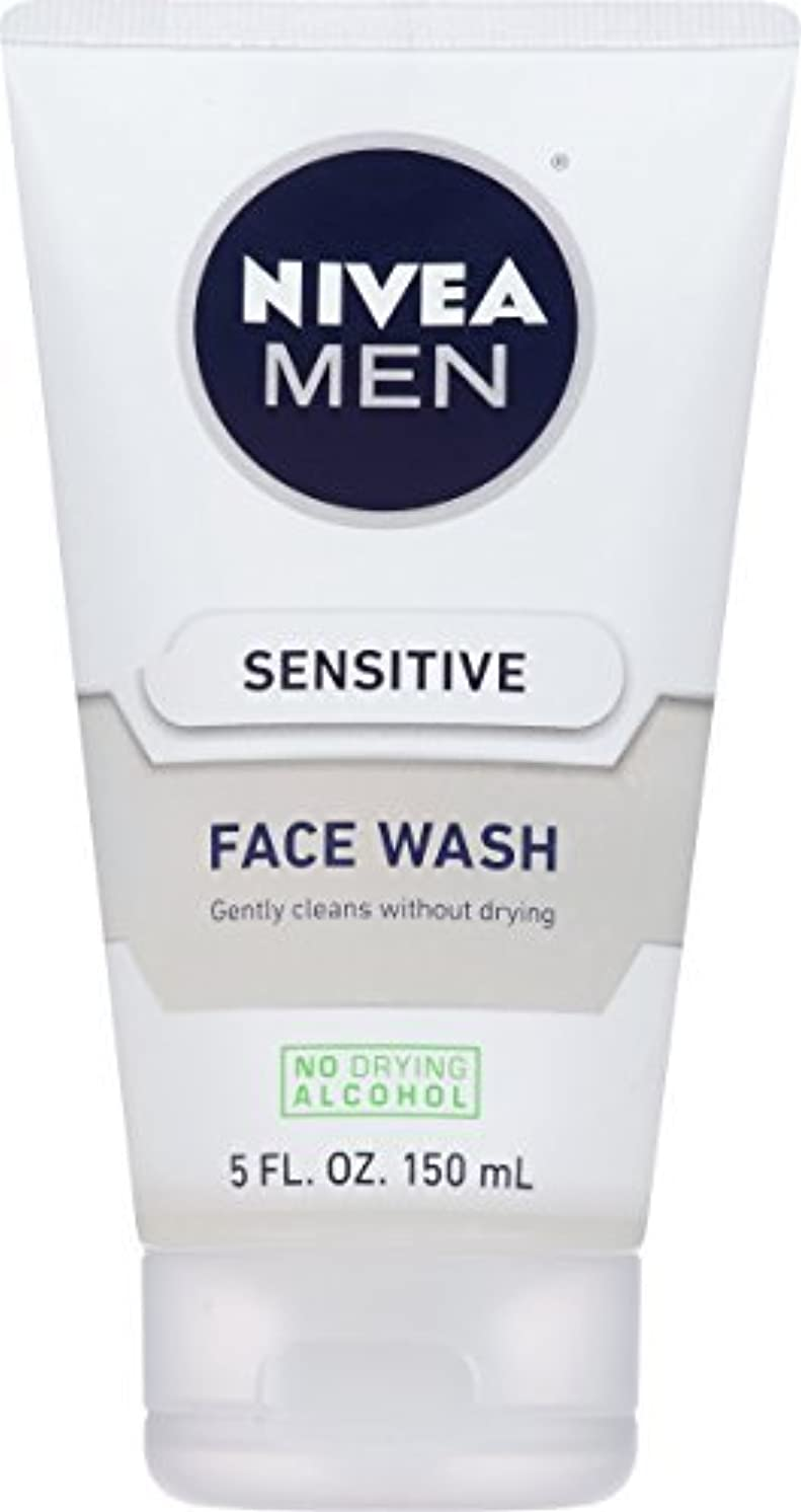 和らげるステープル航空便NIVEA Men Sensitive Face Wash 5 Fluid Ounce [並行輸入品]