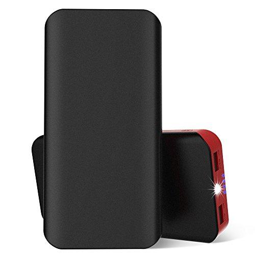 25000mAh 超大容量モバイルバッテリー スマホ充電器 2USBポット チャージャー 急速充電 1A&2.1A出力 コンパクト携帯便利 防水 防災 防塵 耐衝撃 iPhoneAndroid対応 地震、 旅行・ハイキングなどに適用 USBケーブル付き (黒い)