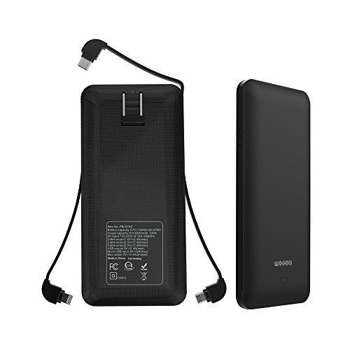 Wobon 10000 mAh超スリムコンパクトポータブル充電器パワーバンク外部バッテリーパックとライトバッテリー...