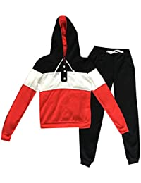 VITryst Women Hooded Spell Color Slim Casual Sweatsuit with Pockets