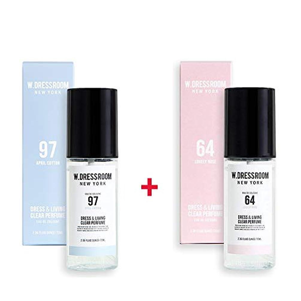 トーナメント玉ねぎ意図的W.DRESSROOM Dress & Living Clear Perfume 70ml (No 97 April Cotton)+(No 64 Lovely Rose)