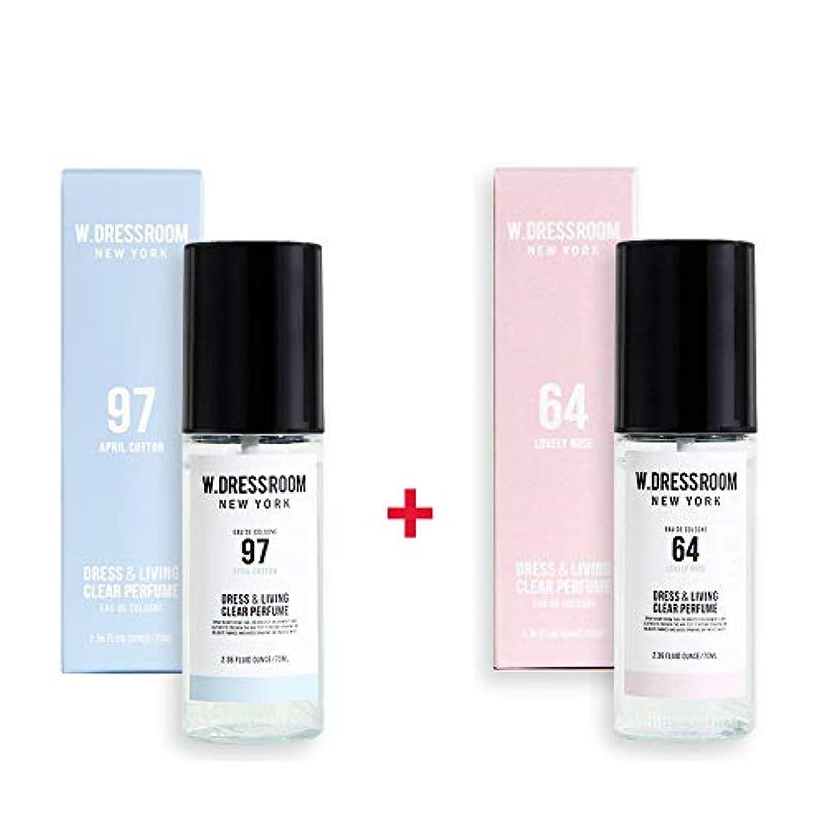 要求栄光の素朴なW.DRESSROOM Dress & Living Clear Perfume 70ml (No 97 April Cotton)+(No 64 Lovely Rose)