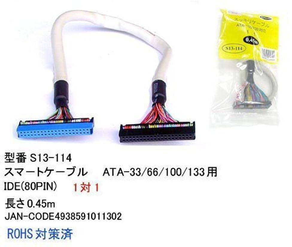 別に若さ迫害するスッキリ ATA-133 IDE(80PIN)1対1 0.45m