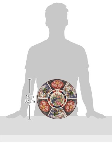 萬古焼 大皿 伊万里御所車10.0大皿 [320 x 38mm] 土物 和食器 旅館 料亭 飲食店 業務用