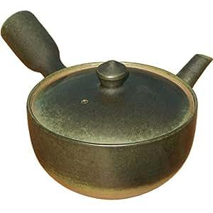 萬古焼き 南景製陶園 ベンリー急須 平碗 苔みどり 【研磨仕上げ】