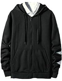 Keaac メンズファッションジッパーロングスリーブパーカースウェットシャツジャケット