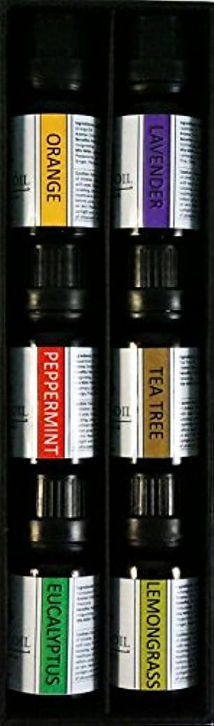ポータルいらいらする麻酔薬オーガニックエッセンシャルオイル10mlx6本 セット 【レモングラス、 ラベンダー、 ペパーミント、 ユーカリ、 オレンジ、 ティーツリー】 Essential Oil Set 10mlx6 (Lemongrass,...