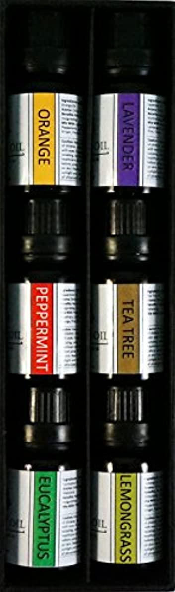 認めるリラックスしたクーポンオーガニックエッセンシャルオイル10mlx6本 セット 【レモングラス、 ラベンダー、 ペパーミント、 ユーカリ、 オレンジ、 ティーツリー】 Essential Oil Set 10mlx6 (Lemongrass,...