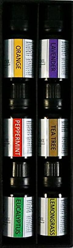 爆風冷える町オーガニックエッセンシャルオイル10mlx6本 セット 【レモングラス、 ラベンダー、 ペパーミント、 ユーカリ、 オレンジ、 ティーツリー】 Essential Oil Set 10mlx6 (Lemongrass, Lavender, Eucalyptus, Peppermint, Orange, Tea Tree)