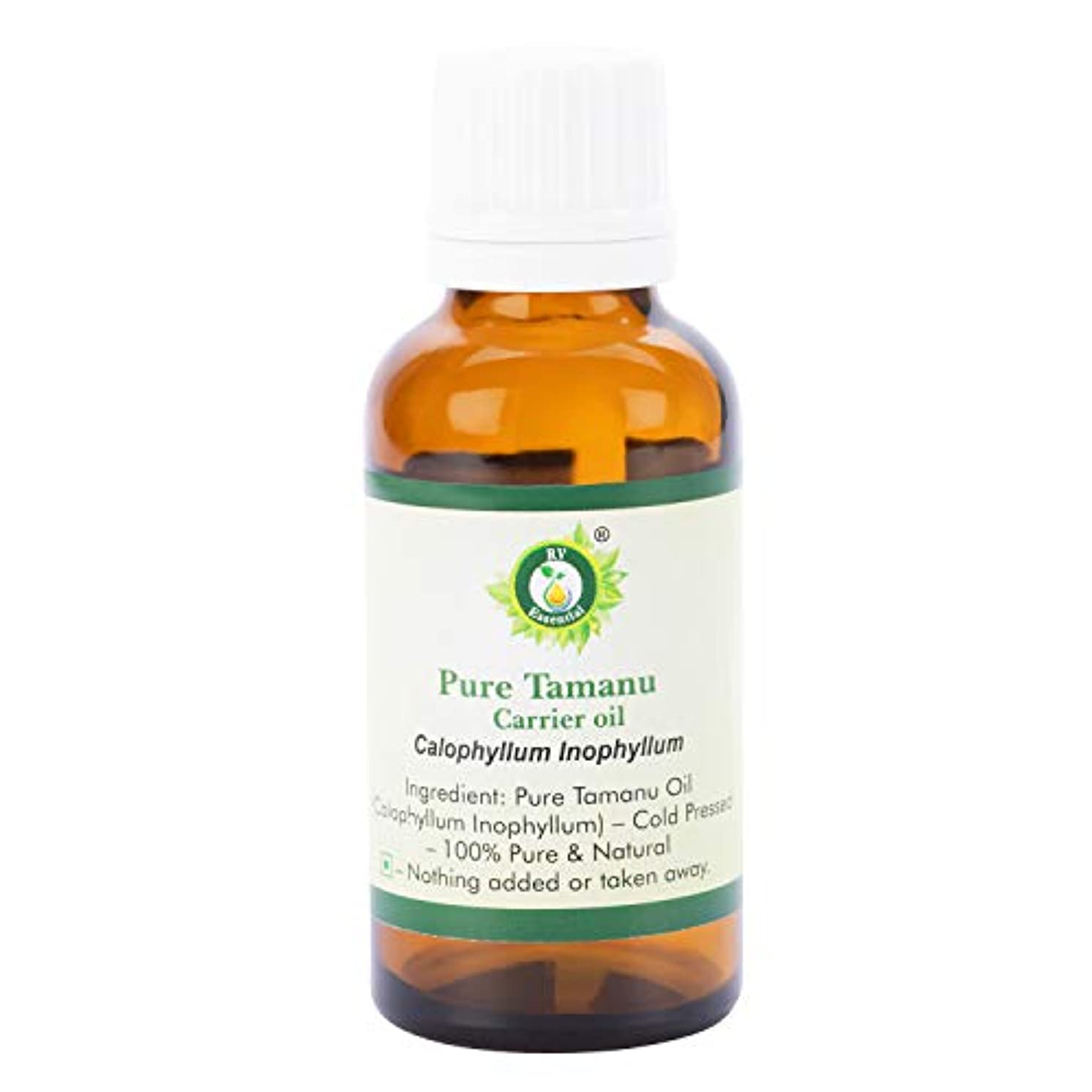 良性引退するベルベットピュアTamanuキャリアオイル30ml (1.01oz)- Calophyllum Inophyllum (100%ピュア&ナチュラルコールドPressed) Pure Tamanu Carrier Oil
