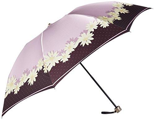 (ランバン オン ブルー)LANVIN en Bleu 婦人折りたたみ傘 軽量 花ドット 21-084-08640-02 31-55 ピンク 親骨の長さ 55cm