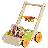 不二貿易 木製 手押し車 アニマル (ベビーウォーカー よちよち歩き カタカタ 玩具) 84290