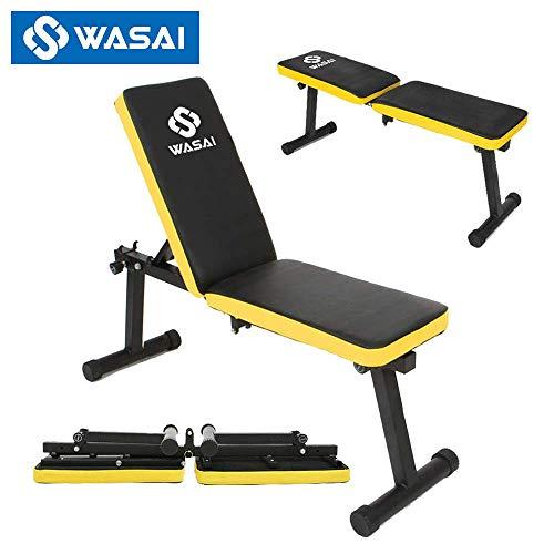 WASAI(ワサイ) フラットベンチ mk600 ダンベルベンチ トレーニングベンチ 折りたたみ式
