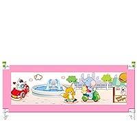 ZR- 垂直 上昇と下降 ベッドガードレール 子 ベッドサイドガードレール 安全ベッドバッフルベッド フェンス 防ぐ ベッドから出る 150cm\180cm\200cm\220cm (色 : Pink-150cm)