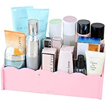 Lipstick Cosmetic Finishing Box, Dressing Table Rack Jewelry Skin Care Product Storage Box Waterproof (Color : Pink)