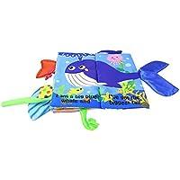 123Loop Ocean + アニマルテール布製本 おもちゃ 柔らかい布製本 ジャングリーテール 海の動物尾 幼児教育玩具