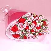 バラとアルストロメリアの花束 デラックス