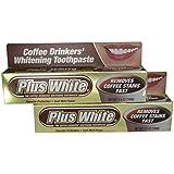 Plus White コーヒー酒飲みホワイトニング歯磨き3.50オズ(2パック) 2パック
