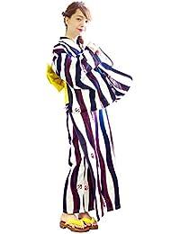 (ディータ) Dita 京都本格女性浴衣 すぐにお出かけできるフルセット 浴衣本体(ゆかた)・帯(つくりおび)・下駄(ゲタ)の3点セット+着付けスタイルブック(冊子)の計4点