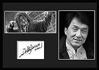 10種類! ジャッキー・チェン/Jackie Chan /サインプリント&証明書付きフレーム/BW/モノクロ/ディスプレイ/3W (04) [並行輸入品]