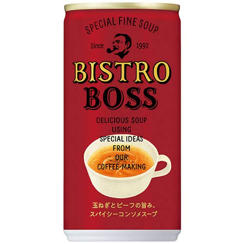 サントリー ビストロボス 玉ねぎとビーフの旨み、スパイシーコンソメスープ 185g缶×30本入×(2ケース)