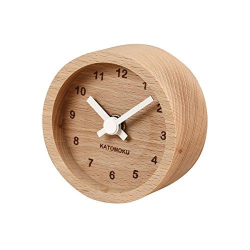 RoomClip商品情報 - 【置き時計】KATOMOKU muku mini round clock km-26 ミニ時計 加藤木工 木製 技術 (WHITE / 白)