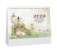小規模カレンダー、2019オフィスプランノート、卓上カレンダー、D09