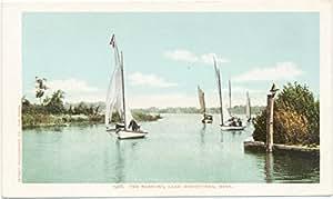 ヴィンテージはがき印刷| The Narrows、ミネトンカ湖、Minn。、1903| HistoricalアンティークFineアート複製 16in x 10in 442485_1610