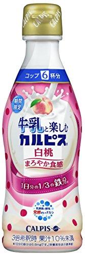 カルピス牛乳と楽しむカルピス白桃希釈用300ml×12本